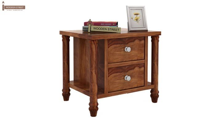 Ornat Bedside Table (Teak Finish)-1