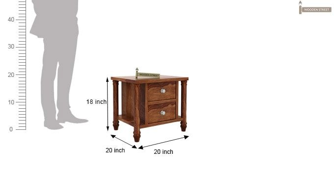 Ornat Bedside Table (Teak Finish)-4