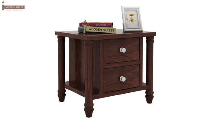 Ornat Bedside Table (Walnut Finish)-1