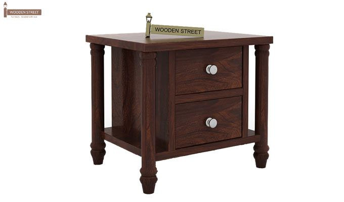 Ornat Bedside Table (Walnut Finish)-3