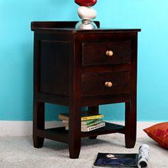 Aaron Bedside Table (Mahogany Finish)