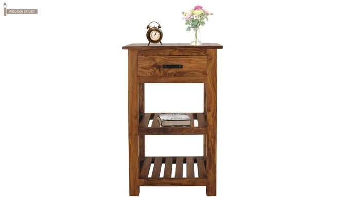 Absalon Bedside Table (Teak Finish)-1