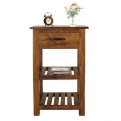 Absalon Bedside Table (Teak Finish)