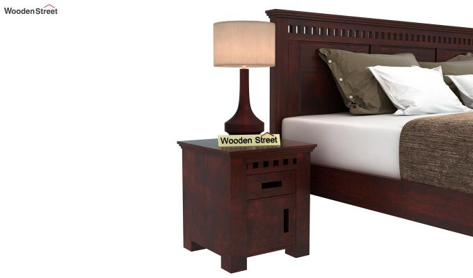 Adolph Bedside Table (Mahogany Finish)-1