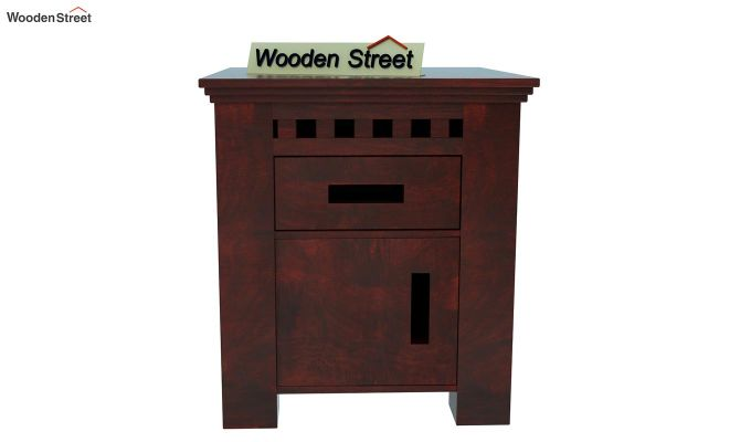 Adolph Bedside Table (Mahogany Finish)-2