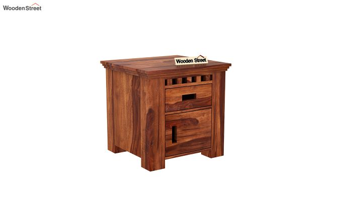 Adolph Bedside Table (Honey Finish)-2