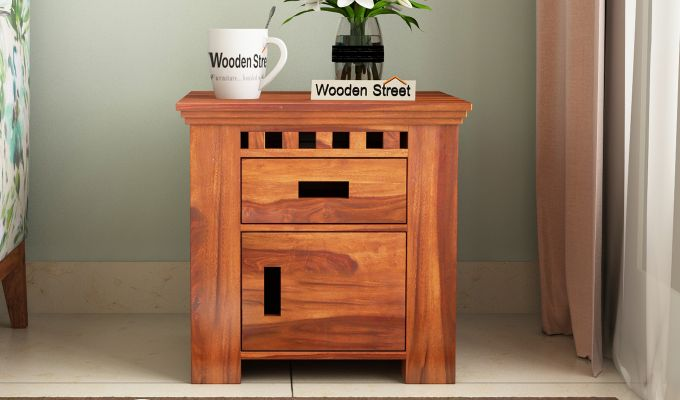 Adolph Bedside Table (Honey Finish)-1