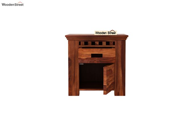 Adolph Bedside Table (Honey Finish)-5