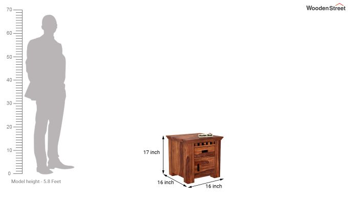 Adolph Bedside Table (Honey Finish)-6