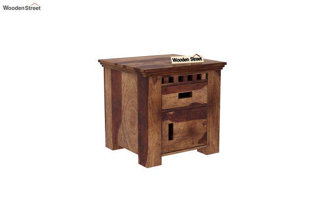 Adolph Bedside Table (Teak Finish)-2