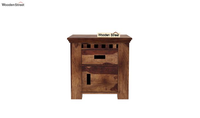 Adolph Bedside Table (Teak Finish)-3