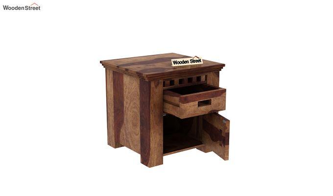 Adolph Bedside Table (Teak Finish)-4