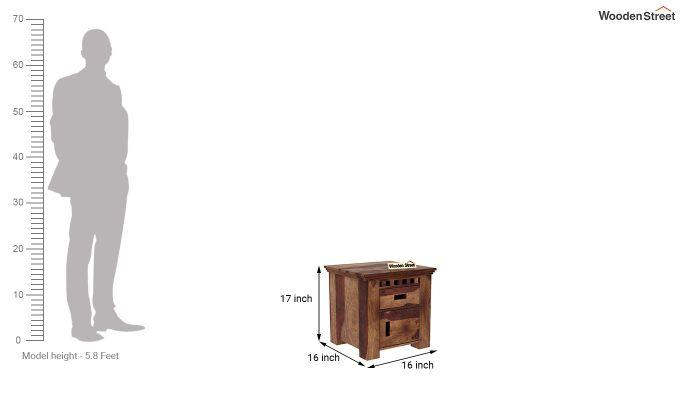 Adolph Bedside Table (Teak Finish)-6