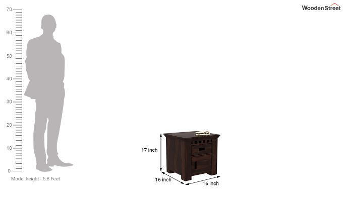 Adolph Bedside Table (Walnut Finish)-6