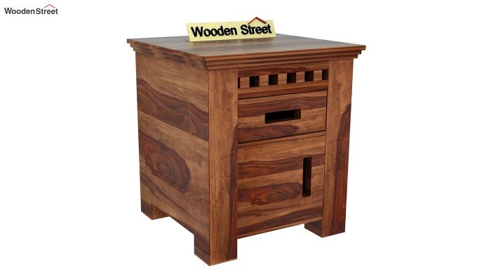 Adolph Bedside Table (Teak Finish)-3