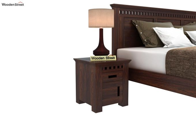 Adolph Bedside Table (Walnut Finish)-1