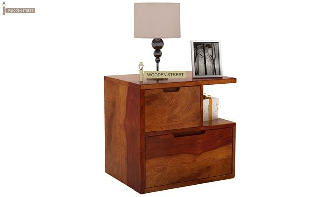 Adrian Bedside Table (Honey Finish)-2