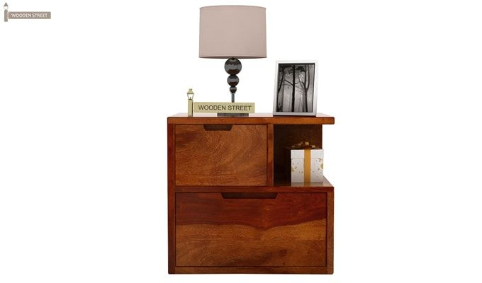 Adrian Bedside Table (Honey Finish)-3