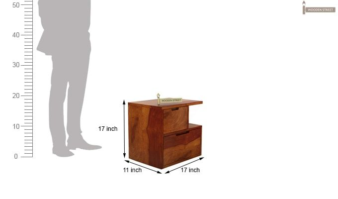 Adrian Bedside Table (Honey Finish)-6