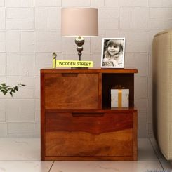 Adrian Bedside Table (Honey Finish)