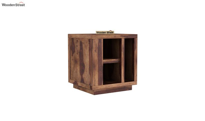 Alanzo Bedside Table (Teak Finish)-2