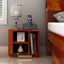 Alanzo Bedside Table (Honey Finish)