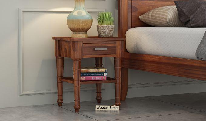 Allan Bedside Table (Honey Finish)-1
