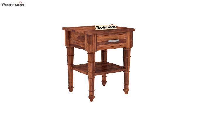 Allan Bedside Table (Honey Finish)-2