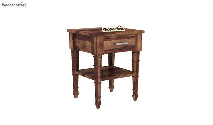 Allan Bedside Table (Teak Finish)-2