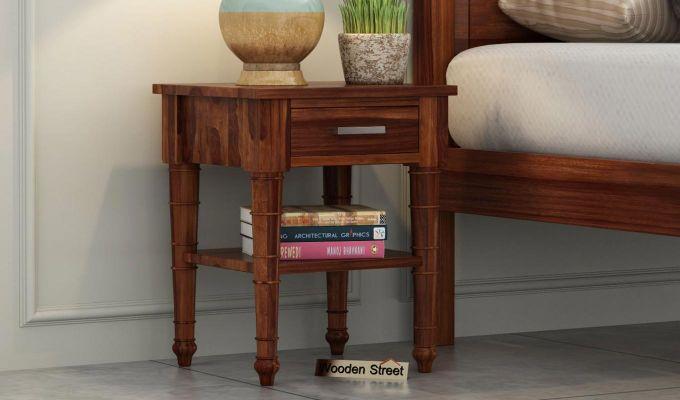 Allan Bedside Table (Teak Finish)-1
