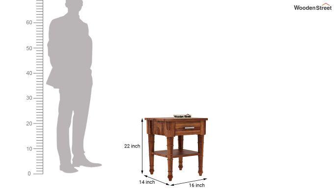 Allan Bedside Table (Teak Finish)-5