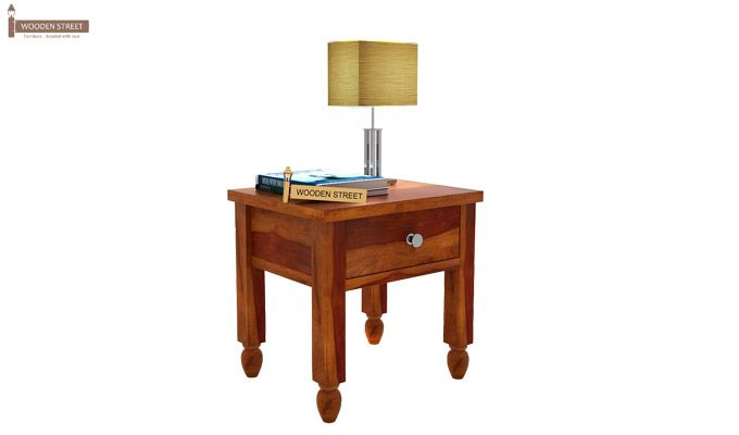 Allure Bedside Table (Honey Finish)-2