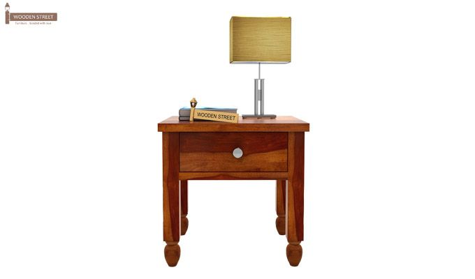 Allure Bedside Table (Honey Finish)-3
