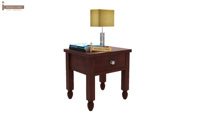 Allure Bedside Table (Mahogany Finish)-1