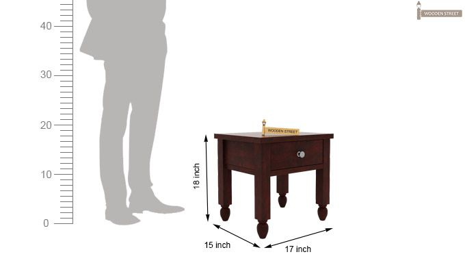 Allure Bedside Table (Mahogany Finish)-4