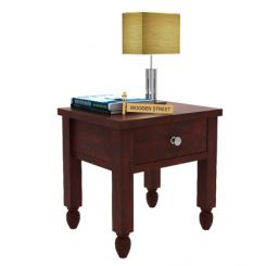Allure Bedside Table (Mahogany Finish)