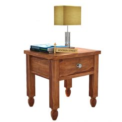 Allure Bedside Table (Teak Finish)