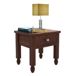 Allure Bedside Table (Walnut Finish)