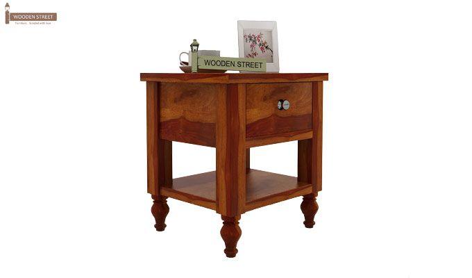 Alpine Bedside Table (Honey Finish)-1