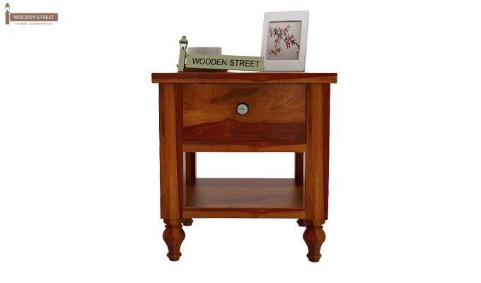 Alpine Bedside Table (Honey Finish)-2