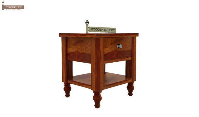 Alpine Bedside Table (Honey Finish)-3