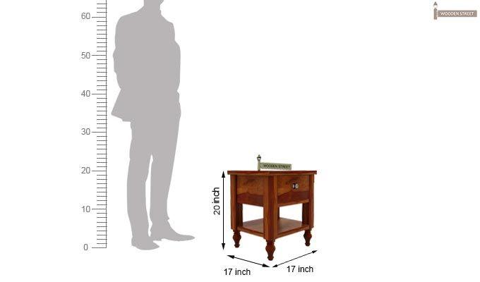 Alpine Bedside Table (Honey Finish)-4