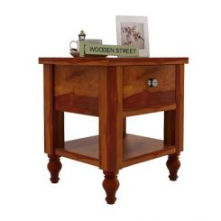 Alpine Bedside Table (Honey Finish)