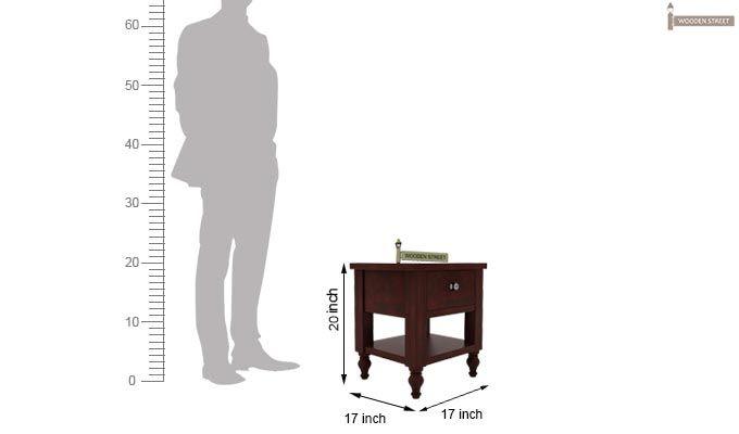 Alpine Bedside Table (Mahogany Finish)-5