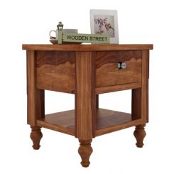 Alpine Bedside Table (Teak Finish)