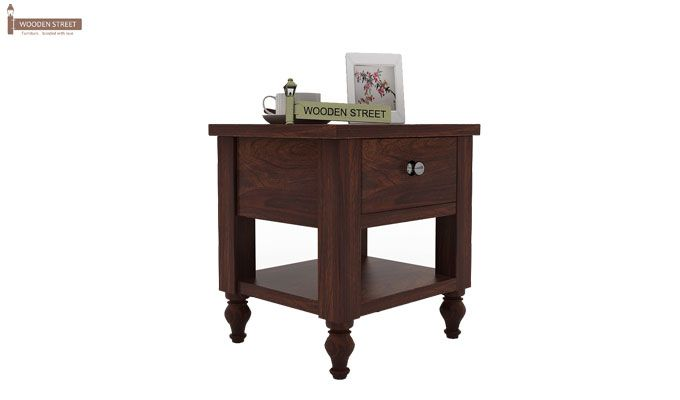 Alpine Bedside Table (Walnut Finish)-1