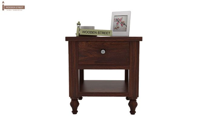 Alpine Bedside Table (Walnut Finish)-2