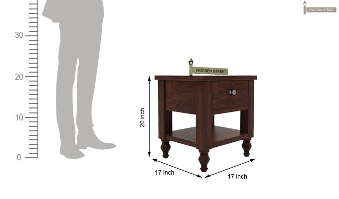 Alpine Bedside Table (Walnut Finish)-4
