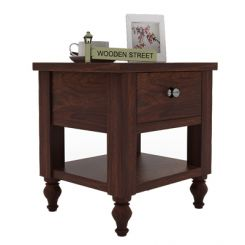 Alpine Bedside Table (Walnut Finish)