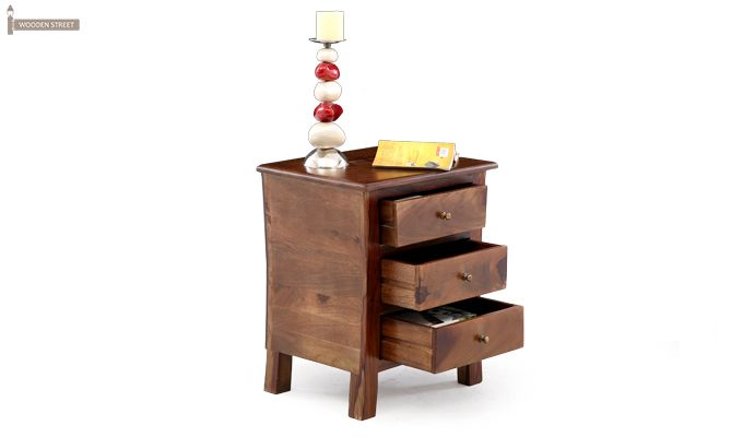 Alvis Bedside Table (Teak Finish)-1